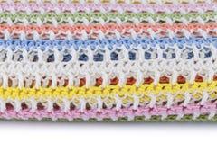 Kolorowa trykotowa szkocka krata odizolowywająca na białym tle Fotografia Royalty Free