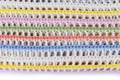 Kolorowa trykotowa szkocka krata odizolowywająca na białym tle Zdjęcia Royalty Free