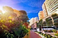 Kolorowa ulica Monaco na Princess gracja alei zdjęcie royalty free