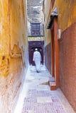 Kolorowa ulica w Fes, Maroko, A Obrazy Royalty Free