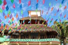 Kolorowa ulica w Sayulita Nayarit zdjęcie stock