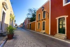Kolorowa ulica w Valladolid obraz royalty free