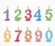 Kolorowa Urodzinowa świeczki liczba ilustracja wektor