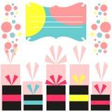 kolorowa urodzinowa karta Ilustracja Wektor