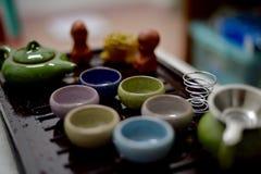 kolorowa ustalona herbata Zdjęcie Royalty Free