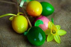Kolorowa Wielkanocnego jajka dekoracja Zdjęcie Stock