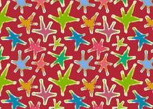 kolorowa wzoru bezszwowa konsystencja gwiazd Obrazy Stock