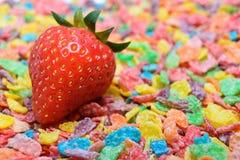 kolorowa zboże truskawka Fotografia Stock