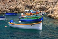 Kolorowe łodzie obraz royalty free