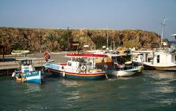 Kolorowe łodzie rybackie obraz royalty free