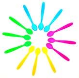 kolorowe łyżki Fotografia Royalty Free