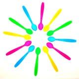 kolorowe łyżki Zdjęcie Stock