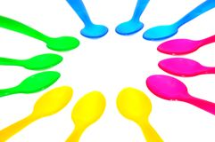 kolorowe łyżki Obraz Royalty Free