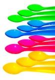 kolorowe łyżki Fotografia Stock
