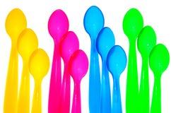 kolorowe łyżki Zdjęcia Stock