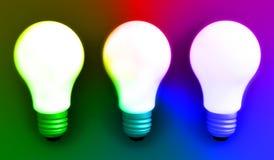 kolorowe światła żarówki Fotografia Stock