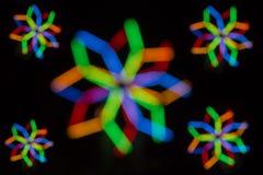 kolorowe światła żarówki Obrazy Stock