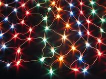 kolorowe światła dekoracyjny sznurka sieci Obrazy Royalty Free