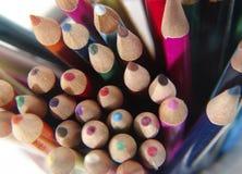kolorowe 6 ołówków zdjęcia stock