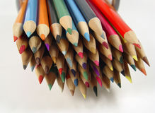 kolorowe 7 ołówków Fotografia Stock
