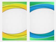 Kolorowe abstrakcjonistyczne fala opróżniają broszurkę, broszurę, książkową pokrywę/ Obrazy Stock