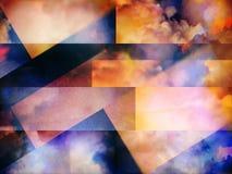 Kolorowe abstrakt chmury ilustracji