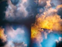 Kolorowe abstrakt chmury royalty ilustracja