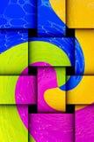 Kolorowe abstrakt formy royalty ilustracja
