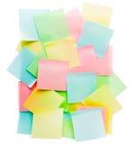 Kolorowe adhezyjne notatki Fotografia Royalty Free