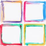 Kolorowe akwareli ramy Obrazy Royalty Free
