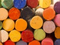 Kolorowe artystyczne kredki Obraz Royalty Free