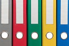 Kolorowe biurowe falcówki jako tło Obrazy Stock