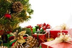 kolorowe Boże Narodzenie dekoracje Obrazy Stock