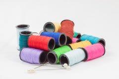 Kolorowe bobiny Zdjęcie Royalty Free