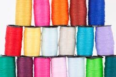 Kolorowe bobiny Fotografia Royalty Free