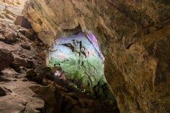 Kolorowe Borra jamy loacted na wschodnim wybrzeżu India Obraz Stock