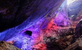 Kolorowe Borra jamy loacted na wschodnim wybrzeżu India Obrazy Royalty Free