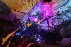 Kolorowe Borra jamy loacted na wschodnim wybrzeżu India Obrazy Stock