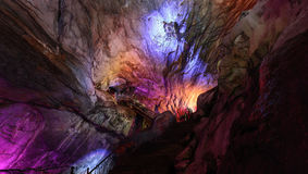 Kolorowe Borra jamy lokalizować na wschodnim wybrzeżu India Zdjęcie Stock