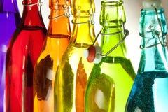 kolorowe butelek Zdjęcie Stock