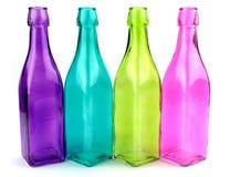 Kolorowe butelki Obrazy Stock