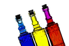 Kolorowe butelki Zdjęcia Royalty Free
