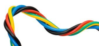 kolorowe cable Obrazy Stock