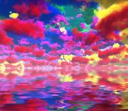 Kolorowe chmury ilustracji