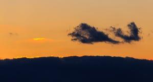Kolorowe chmury nad Wschodnim Frisia Zdjęcie Royalty Free