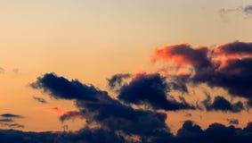 Kolorowe chmury nad Wschodnim Frisia Fotografia Stock