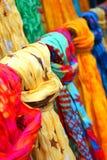 Kolorowe chusty Obrazy Royalty Free