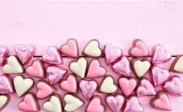 Kolorowe czekolady w kształcie Zdjęcia Royalty Free