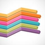 Kolorowe 3d linie Zdjęcia Royalty Free