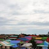 kolorowe dach Zdjęcia Royalty Free